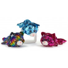 36cm Sequin Cat Soft Toy With Sparkle Eyes