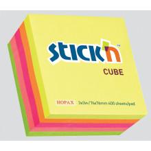 Rainbow Neon Cube 76x76mm Assorted