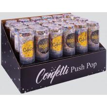 XD04908 Push Pop Foil Confetti Asst