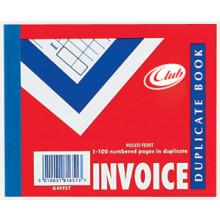 """Club Duplicate Invoice Book 4""""x5"""""""