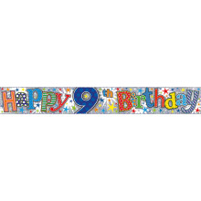 2.5m Party Banner Age 9 Boy