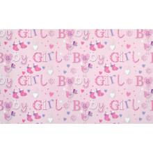 Flat Gift Wrap Baby Girl GW2595