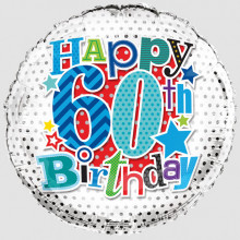 Foil Balloon Age 60 Male