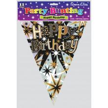 Stars Birthday Bunting - 11 Flags 3.6m