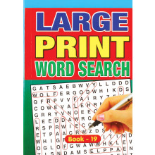 A5 Large Print Word Search 160pg 4 Asst