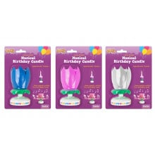 Musical Opening Flower Birthday Candle Assorted