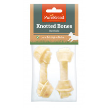 Knotted Rawhide Bones x 2