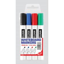 Wallet 4 Whiteboard Markers Bullet Tip