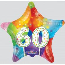 60th Star Foil Balloon