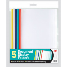 A4 Slide Binder Document Folders 5 Pack