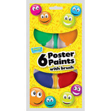 Smiles 6 Poster Paints & Brush