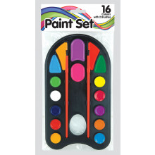 Paint Set 16 Colours & 2 Brushes