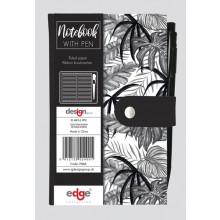 Tropical Noire Slim Notebook & Pen