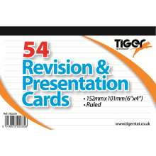 White Revision & Presentation Cards 6x4""