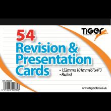 "White Revision & Presentation Cards 6x4"""