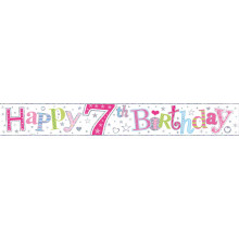 2.5m Party Banner Age 7 Girl