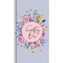 D0407 Slim WTV Diary Floral/Butterflies