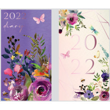 DD00405 Slim WTV Diary Floral/Butterfly