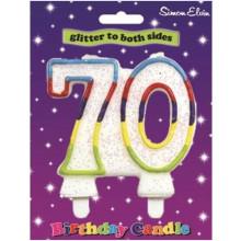 Simon Elvin Age 70 Milestone Candle