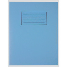 "Silvine Blue Exercise Book 9""x7"" 80pgs"