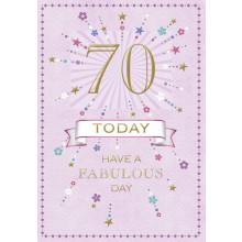 Greetings Cards 70th Female