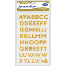 S5221 Alphabet Stickers Gold