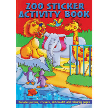A4 Animal Sticker/Activity Book 36 Pages