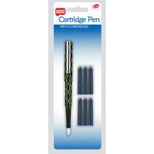 Cartridge Pen + 6 Cartridges Assorted