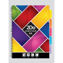 A4 2Do Feint Project Book 200 Pages