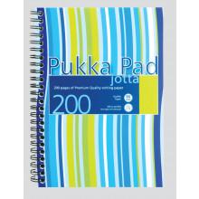 Pink/Blue A5 Pukka Jotta Notebook 200pgs
