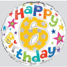 Foil Balloon Age 6 Unisex