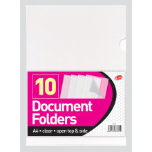 A4 Document Folders Open Top/Side 10s