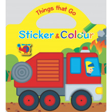 Things That Go Sticker & Colouring Book