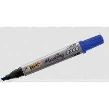 Bic Permanent Markers Chisel Tip Blue