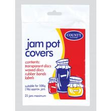 Jam Pot Covers 500g/1lb - 25 Jars