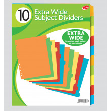 A4 Ex. Wide Card Subject Divider 10 Part