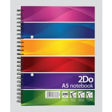 2Do A5 Twin Wire Notebook 200 Pages