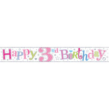 2.5m Party Banner Age 3 Girl
