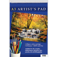 A3 Artist Spiral Pad 20 Leaves 140gsm