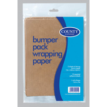 Bumper Brown Paper 3 Sheets + 12 Labels