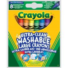 Crayola Crayons Large Washable 8s