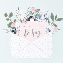 6 Thank You Cards Floral & Envelopes