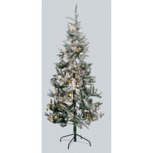 XD03501 6FT Flock Pre Lit Tree