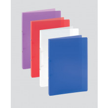 A4 Slim Translucent Ring Binder 15mm Ast