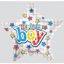 Foil Balloons Birthday Boy Star