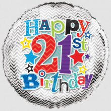 Foil Balloon Age 21 Male