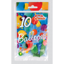 "9"" Assorted Balloons Pack 10 CDU"