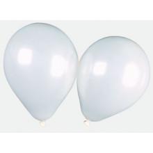 "12"" Shiny White Balloons Pack 15"