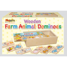 Wooden Farm Animal Dominoes
