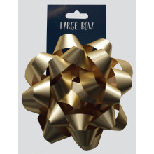 Gold Large Bow 15cm Carded